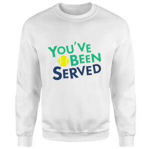 You've Been Served Sweatshirt - White