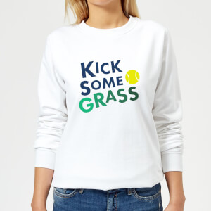 Kick Some Grass Women's Sweatshirt - White