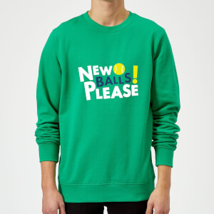 New Balls Please Sweatshirt - Kelly Green