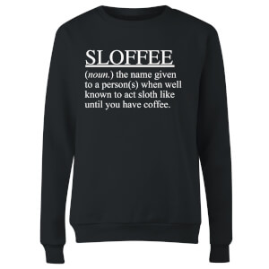 Sloffee Women's Sweatshirt - Black