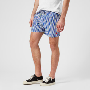 Ted Baker Men's Caven Patterned Swim Shorts - Blue