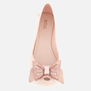 Melissa Women's Ultragirl Sweet Bow 19 Ballet Flats - Blush Glitter: Image 3