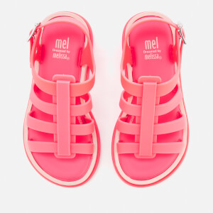 Mini Melissa Kids' Flox 19 Sandals - Neon Pink