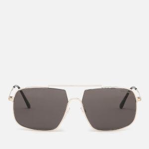 Tom Ford Men's Aiden Aviator Style Sunglasses - Shiny Rose Gold/Gradient Roviex