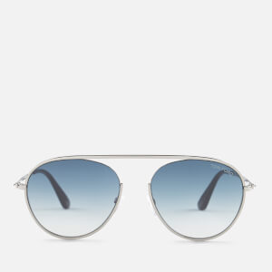 Tom Ford Men's Keith Aviator Style Sunglasses - Shiny Gunmetal/Gradient Blue