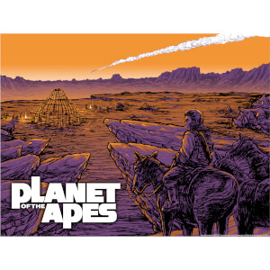 "Litografía Fosforescente Planet of the Apes ""Falling Star"" - Barry Blankenship (46 cm x 61 cm) - Ed. Exclusiva de Zavvi"