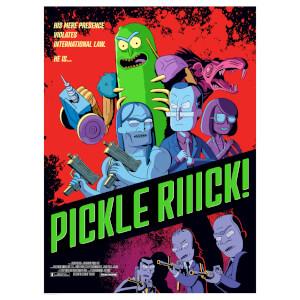 "Rick & Morty ""Pickle Rick"" Lithograph by Serban Cristescu – Zavvi Exclusive"