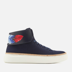 Buscemi Men's 90MM Crepone Trainers - Navy