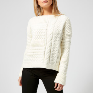 Tommy Hilfiger Women's Paniana Cable Sweater - Snow White