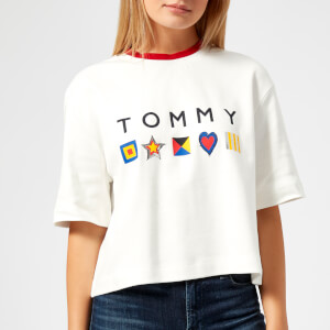 Tommy Hilfiger Women's Abby Short Sleeve T-Shirt - Snow White