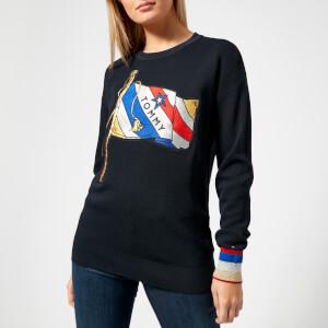 Tommy Hilfiger Women's Payton Graphic Sweater - Navy