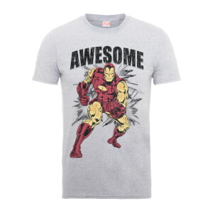 T-Shirt Homme Awesome Iron Man - Marvel Comics - Gris