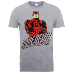 "Camiseta Marvel Comics Daredevil ""The Man Without Fear"" - Hombre - Gris"