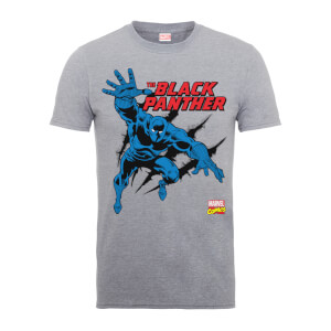 Marvel Comics The Black Panther Men's Grey T-Shirt