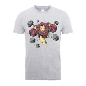 T-Shirt Homme Rocks Iron Man - Marvel Comics - Gris