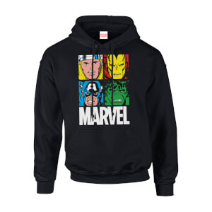 Felpa con cappuccio Marvel Multi Colour Main Tile Black Pullover - Uomo