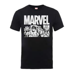 T-Shirt Homme Action Tiles - Marvel Comics - Noir