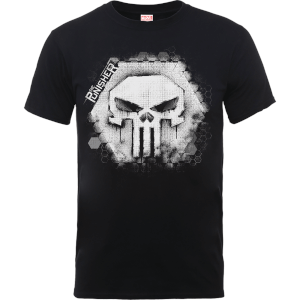 Marvel The Punisher Skull Badge Heren T-shirt - Zwart