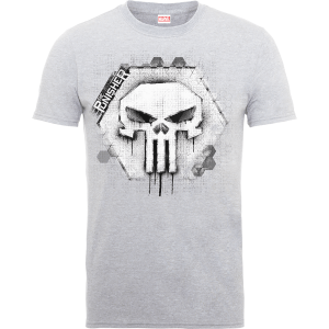 Marvel The Punisher Skull Badge Men's Grey T-Shirt