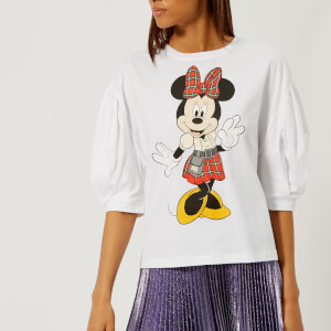 Christopher Kane Women's Minnie Puff Sleeve T-Shirt - White