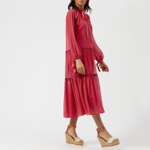 See By Chloé Women's Light Crepon Dress - Raspberry Sorbet