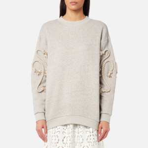 See By Chloé Women's Crafty Fleece Top - Drizzle Grey