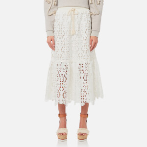 See By Chloé Women's Jersey and Lace Skirt - Snow White
