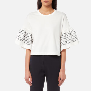 See By Chloé Women's Frilly Jersey Top - Snow White