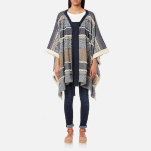See By Chloé Women's Poncho Textured Coat - Multi Blue