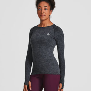L - Seamless Long Sleeve Top - Black