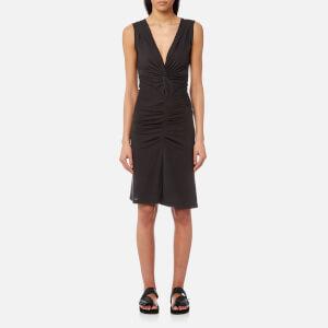 Isabel Marant Etoile Women's Rodwell Draped Jersey Dress - Faded Black