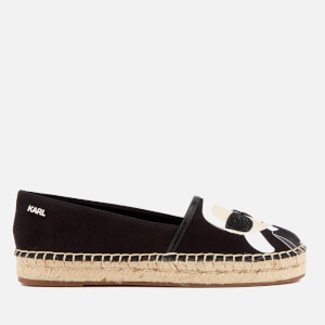Karl Lagerfeld Women's Kamini Karl Ikonic Leather Espadrilles - Black