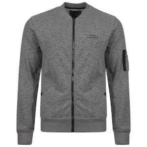 Dissident Men's Hedron Baseball Jacket - Mid Grey Marl