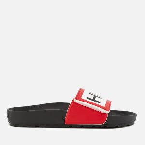 Hunter Men's Original Adjustable Logo Slide Sandals - Black: Image 2