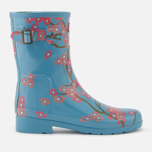 Hunter Women's Refined Blossom Print Short Wellies - Soft Pine Floral