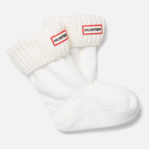 Hunter Toddlers' Short Boots Socks - White