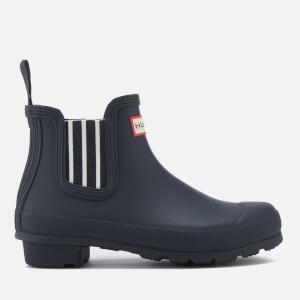 Hunter Women's Original Garden Stripe Chelsea Boots - Navy