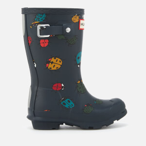 Hunter Toddlers' Ladybird Print Wellies - Ladybird Navy