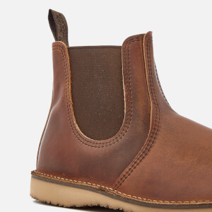 Red Wing Men's Weekender Leather Chelsea Boots - Copper Rough & Tough: Image 4
