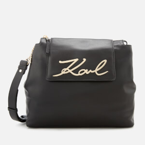 Karl Lagerfeld Women's K/Signature Soft Shoulder Bag - Black