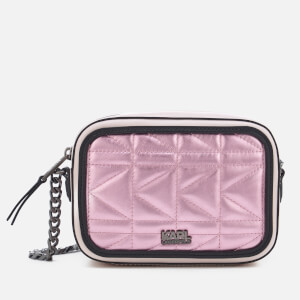 Karl Lagerfeld Women's K/Kuilted Pink Camera Bag - Metallic Pink