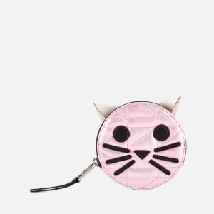 Karl Lagerfeld Women's K/Kuilted Pink Cat Coin Purse - Metallic Pink