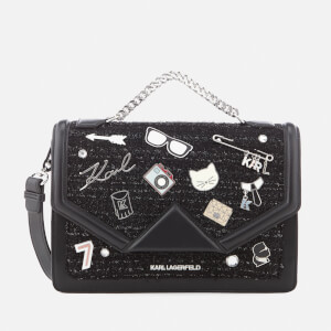Karl Lagerfeld Women's K/Klassik Pins Shoulder Bag - Black