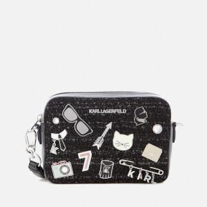 Karl Lagerfeld Women's K/Klassik Pins Camera Bag - Black