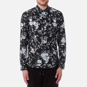 McQ Alexander McQueen Men's Shields 07 Floral Shirt - Grey Scale