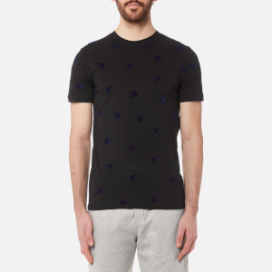 McQ Alexander McQueen Men's Flock Swallow T-Shirt - Black/Carbon Navy