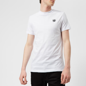 McQ Alexander McQueen Men's Short Sleeve Small Swallow Logo Crew Neck T-Shirt - Optic White