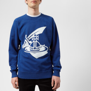 Vivienne Westwood Anglomania Men's Classic Printed Sweater - Navy