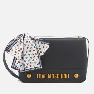 Love Moschino Women's Logo Chain Shoulder Bag - Black