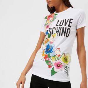 Love Moschino Women's Garland T-Shirt - Optical White